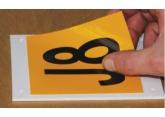 Vinyle adhésif à poser sur plaque et drapeau d'identification PROVOST
