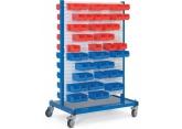 Stockeur mobile équipé de 2 x 2 panneaux crantés avec bacs PROVOST