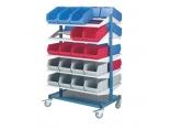 Verplaatsbare rekken 10 legplanken voor Probox-bakken PROVOST