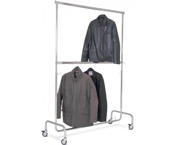 Mobiel kledingrek met 2 verstelbare niveaus - voor winkels STORACON