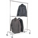 Mobiel kledingrek met 2 verstelbare niveaus - voor winkels PROVOST