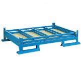 Stapelpallet 1500 x 1000 met houten laadvlak - 2 inklapbare buiswanden PROVOST