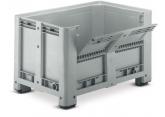 Palletcontainers op voeten met 1/2 neerklapbare deur H 760 PROVOST