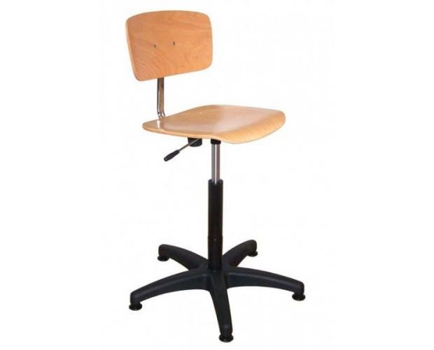 regelbare houten werkplaatsstoel STORACON