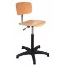 regelbare houten werkplaatsstoel PROVOST