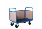 Promax magazijnwagens met 3 zijwanden in hout PROVOST