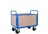 PROMAX magazijnwagen met 4 zijwanden in hout PROVOST