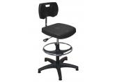 Regelbare polyurethaan werkplaatsstoel met voetensteun PROVOST
