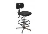 Asynchrone polyurethaan werkplaatsstoel met voetensteun PROVOST