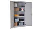 Werkplaatskast met volle deuren, diepte 400 mm PROVOST