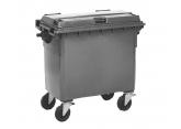Verrijdbare 4-wiel afvalcontainer 660 liter PROVOST