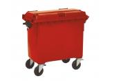 Verrijdbare 4-wiel afvalcontainer 1000 liter PROVOST