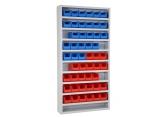 Onderdelenkast Systembox met 10 legborden en met bakken PROVOST