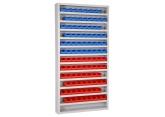 Onderdelenkast Systembox met 13 legborden met bakken PROVOST