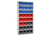 Onderdelenkast Systembox met 8 legborden met bakken PROVOST