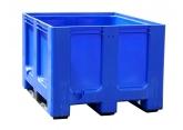 Blauwe palletkist voor afvalsortering PROVOST