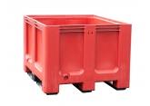Rode palletkist voor afvalsortering PROVOST