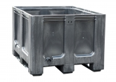 Caisse palette gris foncé 610 litres pour tri sélectif PROVOST
