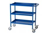 Desserte mobile bleue 3 plateaux - 150 kg PROVOST