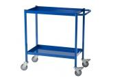 Blauwe mobiele werkbank 2 plateaus 150 kg PROVOST