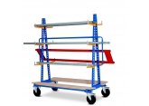 Chariot ratelier stockage horizontal - simole ou double face PROVOST