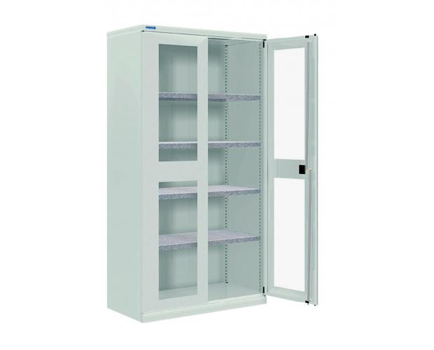 Kast Voor Glazen : Metalen kast met klapdeuren diepte 400 mm