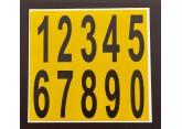 Verschillende zelfklevende cijfers op vel – H 75 PROVOST