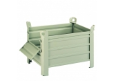 Plaatijzeren container 800 X 600 mm met 1/2 neerklapbare deur PROVOST