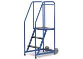 Mobiele stalen trapladder enkelzijdige toegang - platform H 765 PROVOST