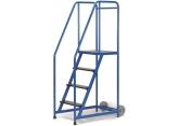 Mobiele stalen trapladder enkelzijdige toegang - platform H 1015 PROVOST