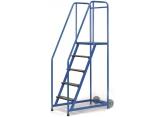 Mobiele stalen trapladder enkelzijdige toegang - platform H 1265 PROVOST