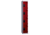 Locker - 1 kolom 4 vakken - monoblok PROVOST