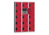 Locker - 3 kolommen 5 vakken - monoblok PROVOST