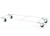 Socle roulant pour corbeilles fil L1280 mm PROVOST