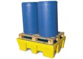 Bac de rétention jaune pour 2 fûts 200 litres