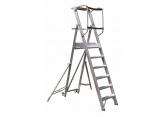 Opvouwbare mobiele trapladder met 6 treden – werkplatform H 1405 PROVOST