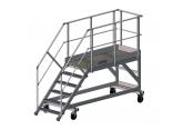Mobiele trapladder voor toegang tot afvalcontainers - platform (L 2000) PROVOST
