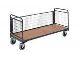 Magazijnwagens voor volumineuze goederen – 3 draadgaas zijwanden PROVOST