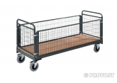 Magazijnwagens voor volumineuze goederen – 4 draadgaas zijwanden PROVOST