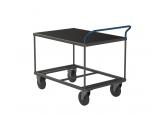 Tafelwagen - 1 houten legbord met zwart geribbeld rubber PROVOST