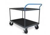 Tafelwagen - 2 houten legborden met zwart geribbeld rubber PROVOST
