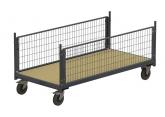 Magazijnwagens voor volumineuze goederen – 2 zijwanden in rooster PROVOST