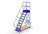 Mobiele trapladders met platform en stabilisatoren PROVOST