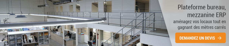 Plateforme mezzanine ERP